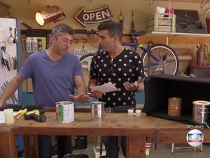 Aprenda a fazer luminárias com lata de leite (Foto: TV Globo)