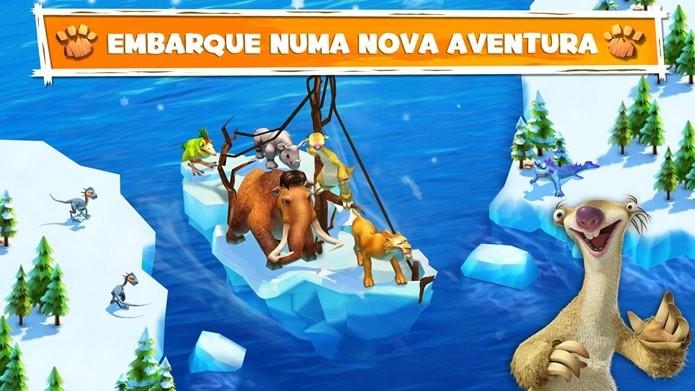 Novo jogo com os personagens de A Era do Gelo (Foto: Divulgação)