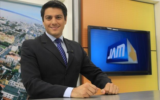 Thiago Moraes é o novo apresentador do Jornal do Amazonas (Foto: Katiúscia Monteiro/ Rede Amazônica)