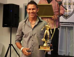Robson, goleiro do Flamengo-PI, durante premiação do Piauiense 2013 (Foto: Josiel Martins)