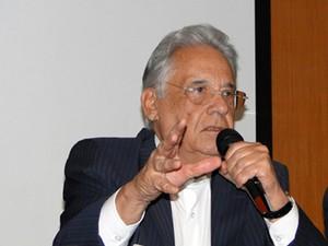 Fernando Henrique Cardoso participa de evento do PSDB mineiro  (Foto: Pedro Cunha / G1)