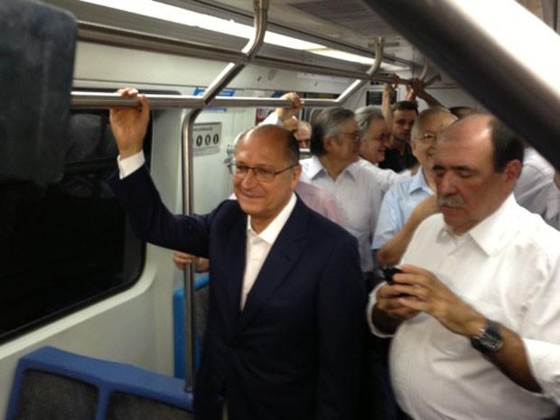 Governador faz visita ao Metrô de São Paulo (Foto: Márcio Pinho/G1 São Paulo)