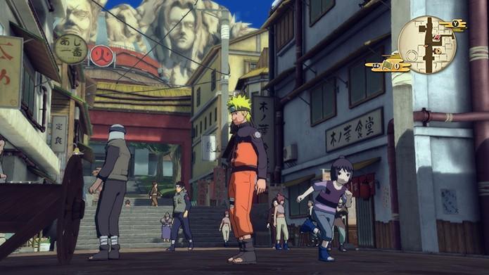 A vila de Konoha em Naruto SUNS 4 (Foto: Reprodução/ Bernardo Dabul)