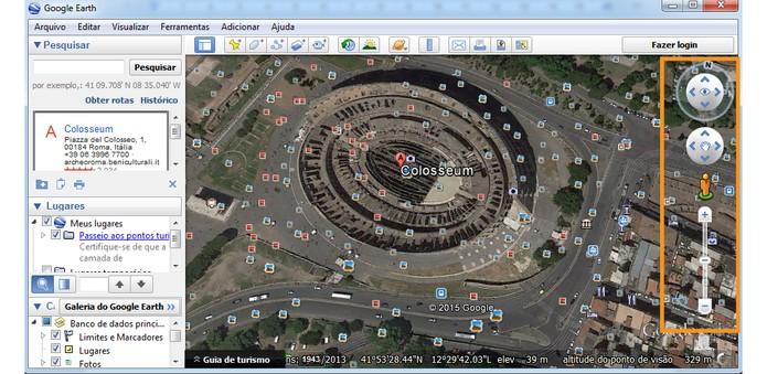 Ferramentas de navegação pelo Google Earth (Foto: Reprodução/Barbara Mannara)