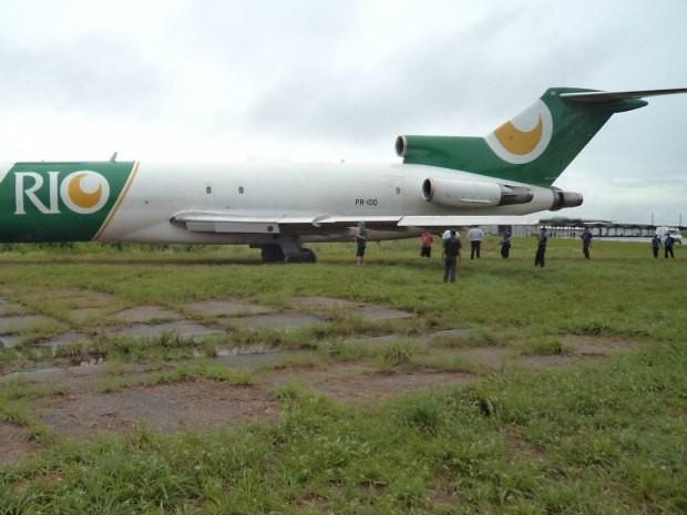 Avião derrapou após falha em equipamento, segundo a Infraero (Foto: Arquivo Pessoal)