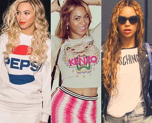8768027b3 Beyoncé, Anitta, Chay Suede e outros já circulam por aí carregando nomes de  marcas estampadas no peito de forma nada discreta. Confira.