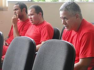 Bruno, Macarrão e Marcos Aparecido dos Santos, o Bola (Foto: Alex Araújo/G1 MG)