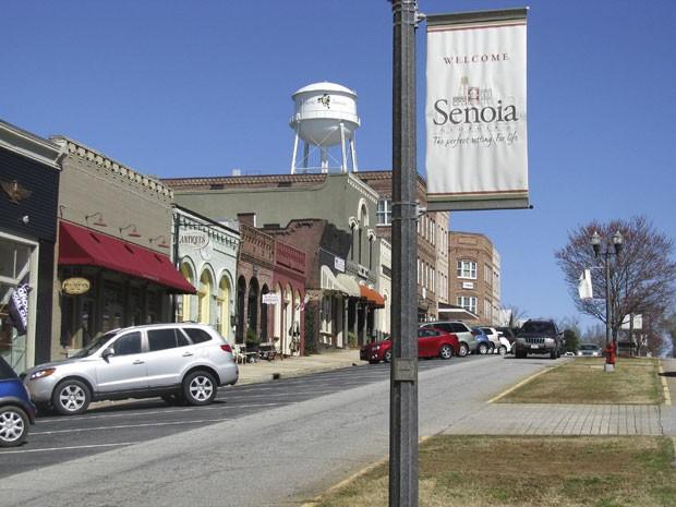 A rua principal de Senoia, usadas nas filmagens de The Walking Dead (Foto: Colleen Jenkins/Reuters)