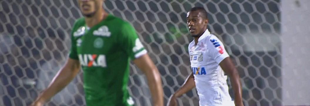 Chapecoense 0 x 1 Santos, pela 32ª rodada do Campeonato Brasileiro