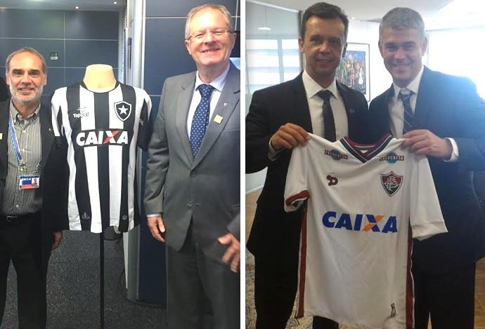 No papel  Botafogo e Fluminense assinam termo para estampar