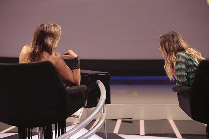 Sandy e Daniela Mercury trocam figurinhas sobre as apresentações  (Foto: Felipe Monteiro/Gshow)