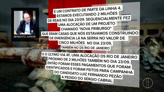 Delator afirma que dinheiro de obra emergencial em Friburgo após tragédia foi destinado à campanha de Pezão