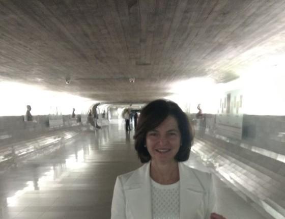 A subprocuradora-geral Raquel Dodge em visita ao Senado (Foto: Nonato Viegas)