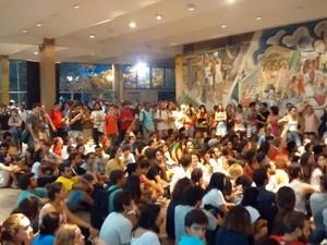 Estudantes ocupam reitoria da UFSC (Foto: Helio Rodak De Quadros Junior/Divulgação)