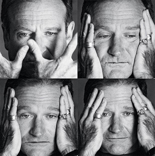 """O MESTRE DAS MÁSCARAS Imagens de Robin Williams feitas em Los Angeles,  em 2003. Ele era um ator capaz  de """"sumir no personagem"""" (Foto: Jeff Vespa/Contour by Getty Images)"""