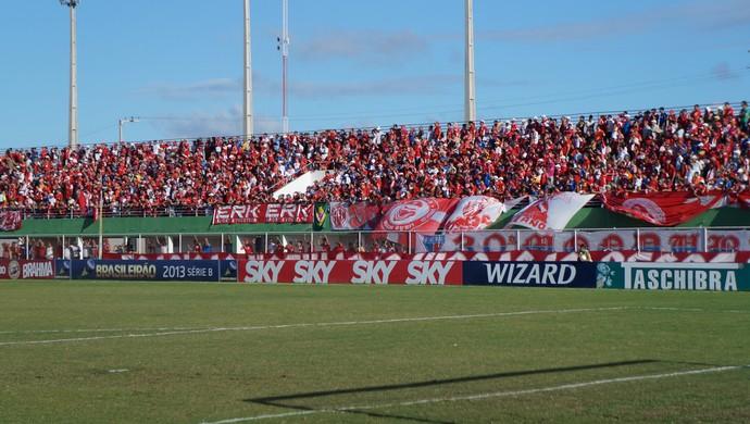 Torcida do América-RN - Estádio Nazarenão, Goianinha (Foto: Augusto Gomes)