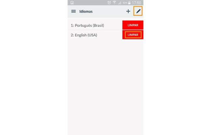 Limpe os idiomas que preferir deletar do app (Foto: Reprodução/Barbara Mannara)