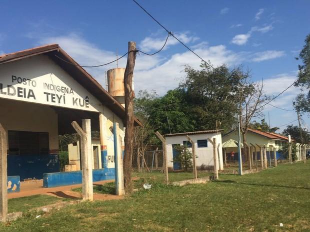 Posto de Saúde onde os três indígenas feridos no ataque foram atendidos (Foto: Gabriela Pavão/G1 MS)