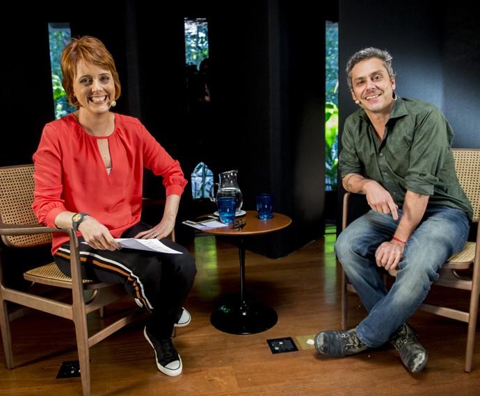 Bianca Ramoneda e Alexandre Nero (Foto: Globo/João Miguel Júnior)