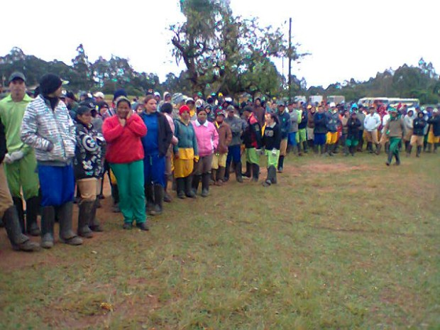 Mais de mil trabalhadores aderiram à paralisação em Itapetininga (SP). (Foto: Carlos Alberto Soares / TV TEM)