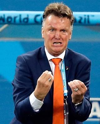 Louis van Gaal técnico jogo Argentina x Holanda (Foto: AP)