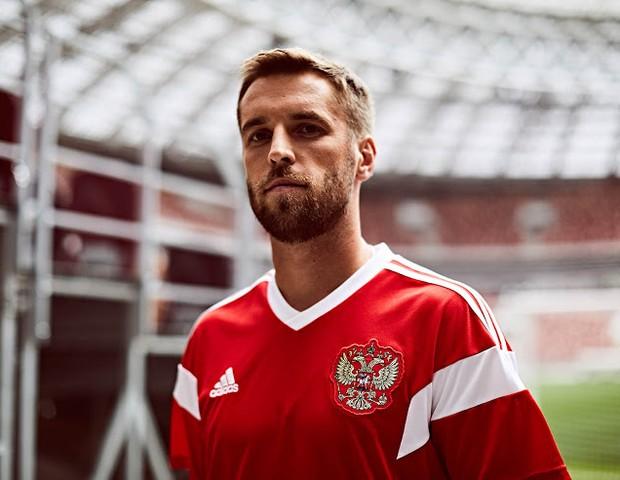 Uniforme da Rússia para a Copa de 2018 (Foto: reprodução)