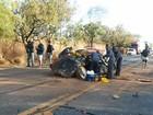 Acidente perto de Corinto deixa um morto e quatro pessoas feridas