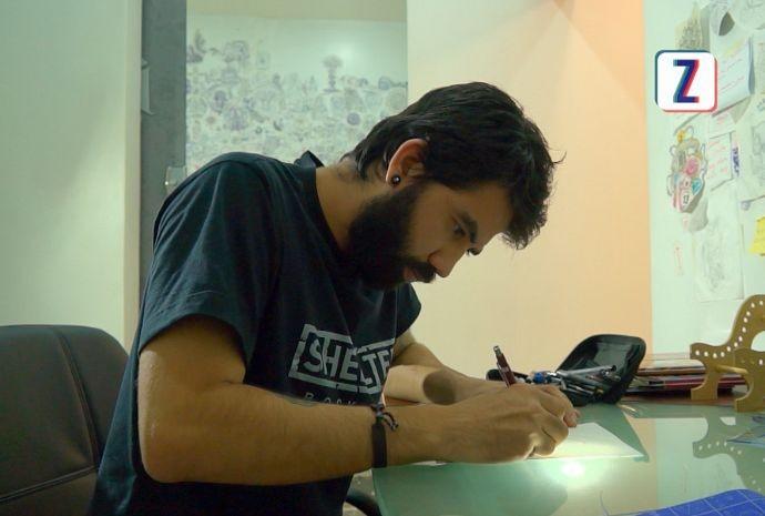 Max Bonari é especialista em pontilismo (Foto: Zappeando)