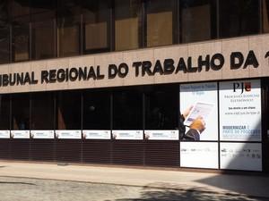 Tribunal Regional do Trabalho da 15ª Região, em Campinas  (Foto: Marcello Carvalho/G1)
