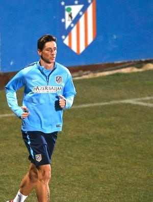 Fernando Torres, Treino Atlético de Madrid (Foto: Agência Reutes)