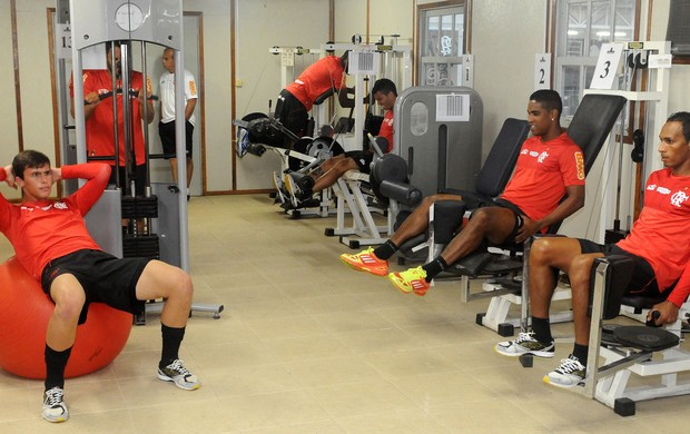 Flamengo, treino academia (Foto: Alexandre Vidal / Flaimagem)