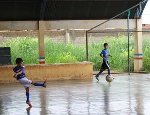 Escolinha de futsal Carlos Gomes, em Porto Velho (Foto: Daniele Lira)