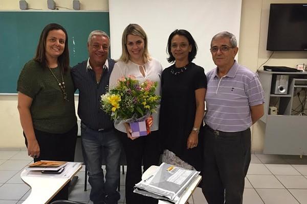 Banca avaliadora: professores doutores Claudia Thomé (UFRJ), Márcio Guerra (UFJF), Cristiane Finger (PUC-RD) e José Luiz Ribeiro (UFJF) (Foto: Arquivo Pessoal)