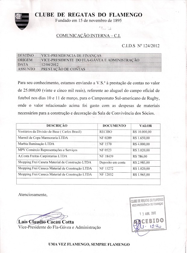 Info_Documento_RECIBO (Foto: Infoesporte)