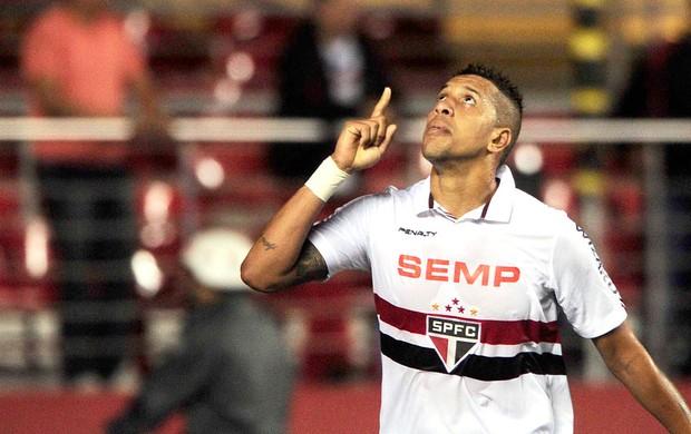 Antonio Carlos comemora gol do São Paulo e Nacional de Medellín (Foto: Marcos Ribolli)