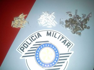 Terceiro suspeito conseguiu fugir (Foto: Divulgação/ Polícia Militar de Laranjal Paulista)