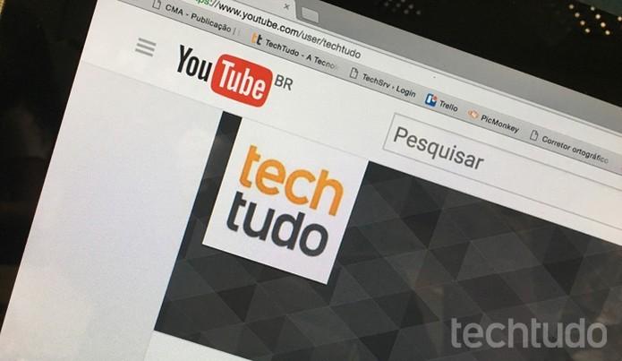 Como criar dois canais do YouTube na mesma conta do Google (Foto: Camila Peres/TechTudo)