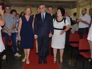Helinho Zanata toma posse como prefeito em São Pedro (Foto: Priscila Alves/Prefeitura de São Pedro)