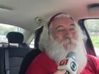 Papai Noel vira Uber para completar renda e faz a festa dos passageiros