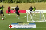 Seleção inglesa inicia treinamento e anuncia Kane como capitão na Copa