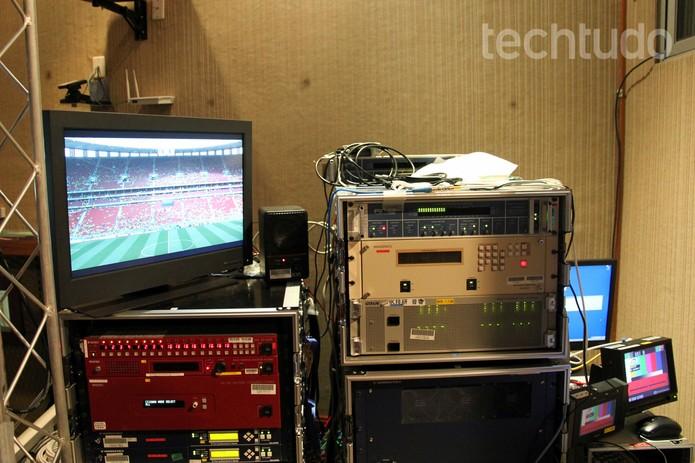 Centro de recepção de imagens 8K (Foto: Taysa Coelho / TechTudo)