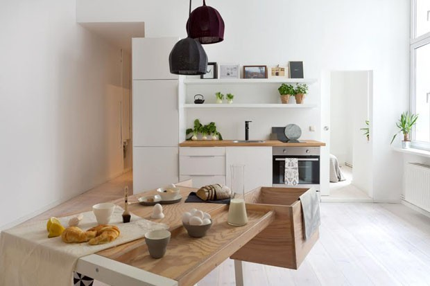 morada pequena mas com estilo casa vogue apartamentos. Black Bedroom Furniture Sets. Home Design Ideas
