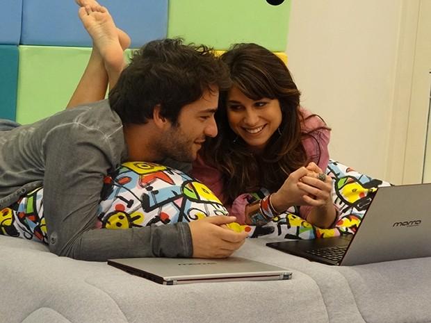 Davi e Manu desenvolvem o seu game juntos (Foto: Parker TV)