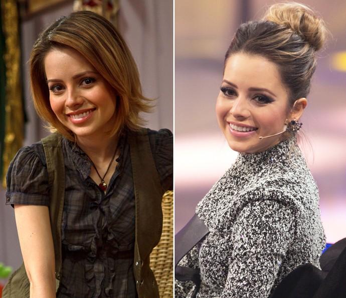 Sandy caracterizada de Gabriela, em As Brasileiras, à esquerda; e na 3 temporada do SuperStar, à direita (Foto: TV Globo / Isabella Pinheiro / Gshow)