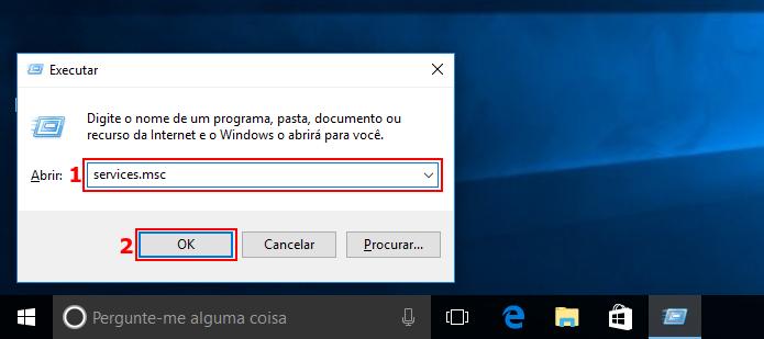 Executando a janela de gerenciamento de serviços do Windows (Foto: Reprodução/Edivaldo Brito)