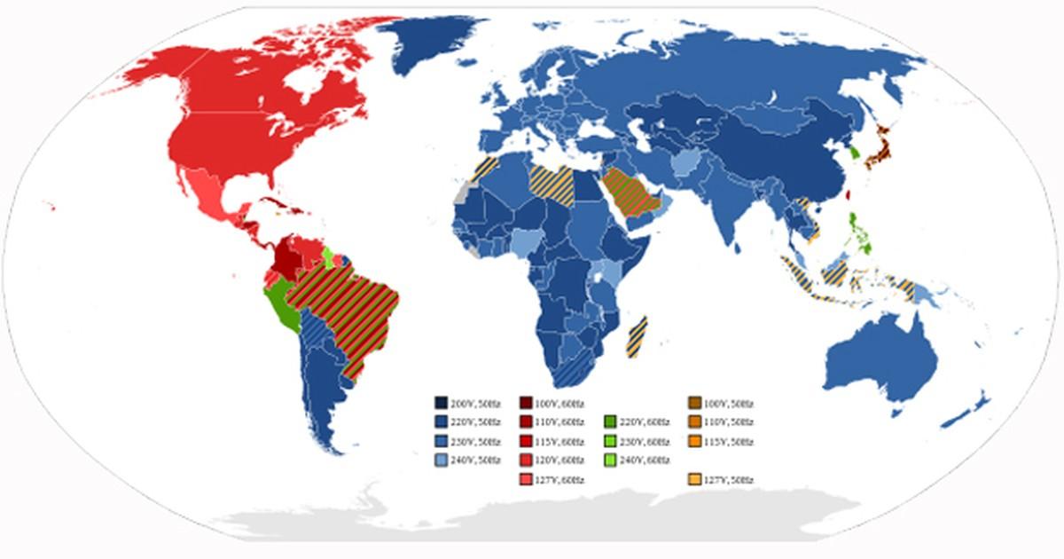 8c2099a8b4b G1 - Por que alguns lugares usam eletricidade de 110v e outros de 220v  -  notícias em Mundo