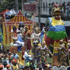 No desfile, Galo homenageou Ariano Suassuna (Luka Santos / G1)
