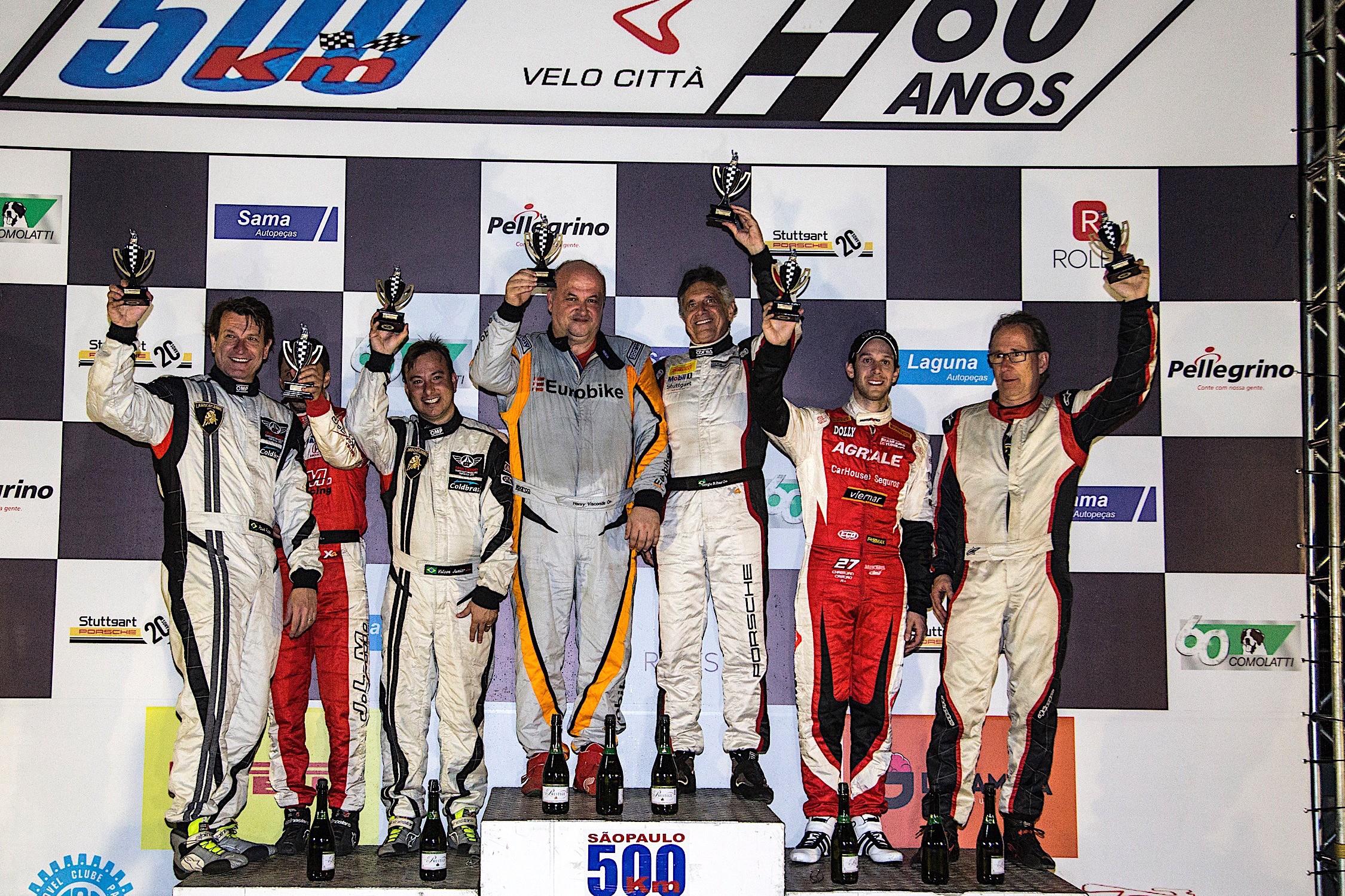 Resultado final dos 500 Km de São Paulo categoria GT1 (Foto: Bruno Terena)