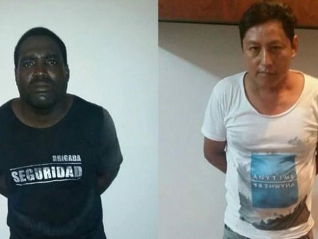 Alberto Segundo Mina Ponce e Aurelio Eduardo Rodríguez são acusados do crime  (Foto: Ministério do Interior do Equador)