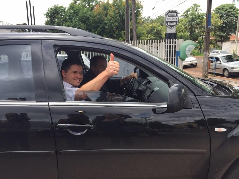 Leomar Bolzani (PSDB) perdeu o foro privilegiado em maio de 2016 após renunciar ao cargo de prefeito; ele cumpre prisão domiciliar desde novembro de 2015 (Foto: Michelli Arenza / RPC)